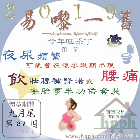 懷孕中期夜尿頻繁容易會在懷孕後期出現腰痛